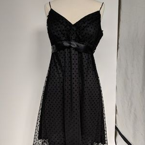 Blu Sage black net lined dress-sz 14